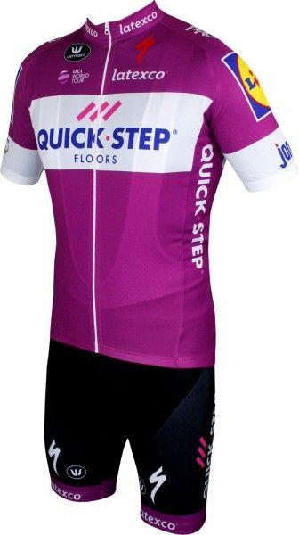 Quick-Step Floors 2018 giro special edition set purple (jersey long zip + bib short) - Vermarc professional cycling team