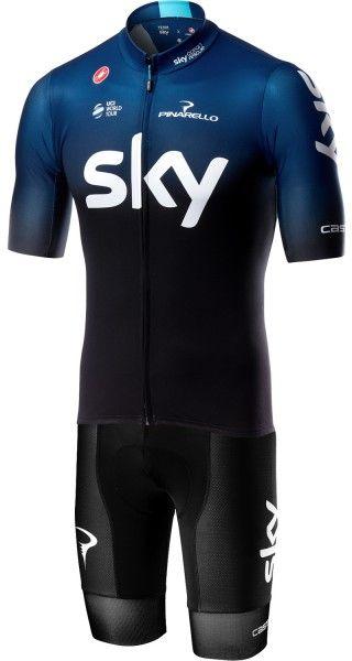 TEAM SKY 2019 set - (SQUADRA jersey + VOLO bibshort) - Castelli professional cycling team