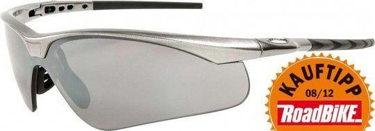 Endura Radbrille SHARK - 3-Gläser-Set (orange) silbern