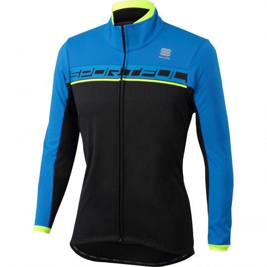 Sportful Giro Softshell Fahrrad Winterjacke schwarz blau 1