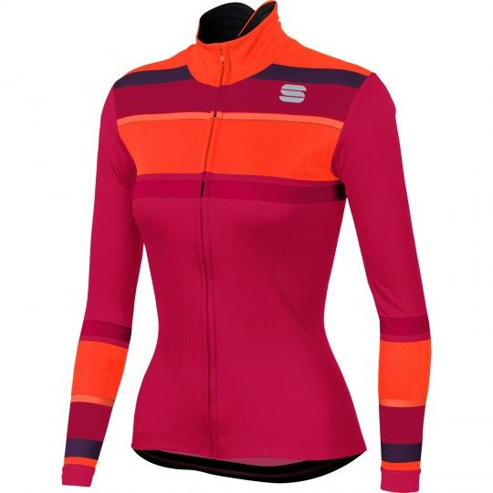 Sportful STRIPES THERMAL Radtrikot Damen langarm love potion Größe M (3)