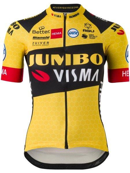 TEAM JUMBO - VISMA 2020 Radtrikot Damen kurzarm (langer Reißverschluss) - AGU Radsport-Profi-Team Größe S (2)