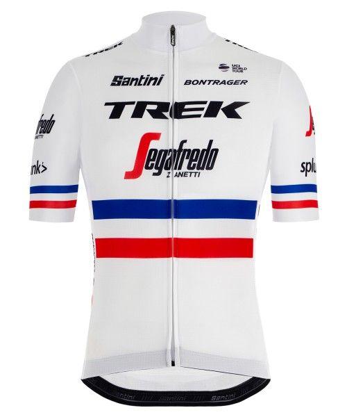 TREK - SEGAFREDO französischer Meister 2019 Radtrikot kurzarm (langer Reißverschluss) - Santini Radsport-Profi-Team Größe XL (5)