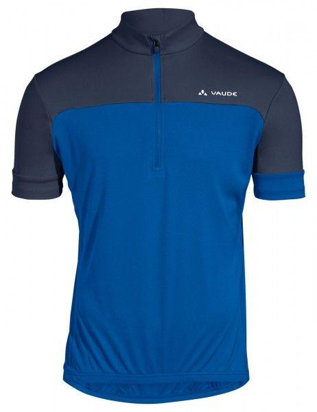 vaude men mossano t-shirt V Radtrikot kurzarm blau 1