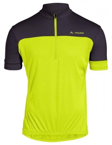 vaude men mossano t-shirt V Radtrikot kurzarm gelb grün 1