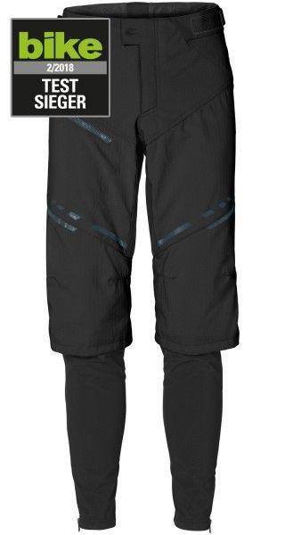 Vaude VIRT Softshell Pants II Radhose lang schwarz 1