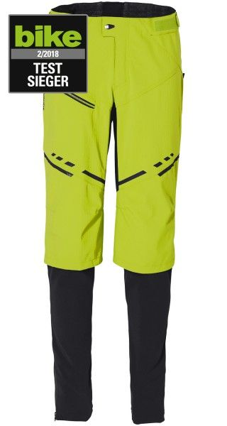 Vaude VIRT Softshell Pants II Radhose lang chute green 1
