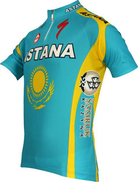 Astana Kazakh champ 2010 Nalini professional cycling team - cycling jersey  with short zip. Previous f0247f4db
