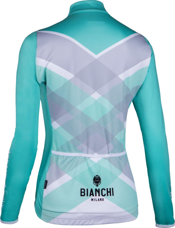 Bianchi Milano Cornedo womens long sleeve cycling jersey celeste (I18-4300).  Next ff0d51baf