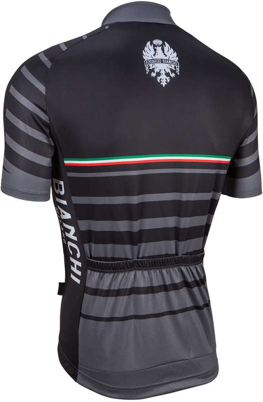 2ddf2a61f Bianchi Milano ALBATROS short sleeve cycling jersey black (E17-4000). Next