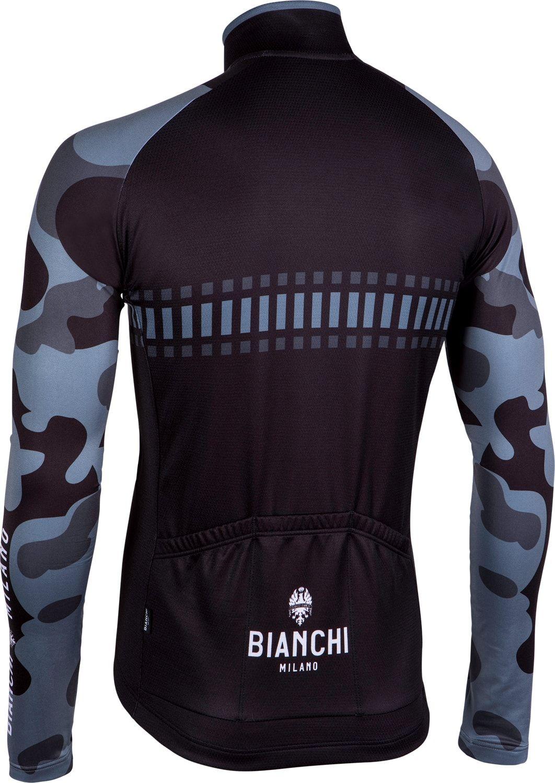 Bianchi Milano Brennero long sleeve cycling jersey black (I18-4000). Next e9d847274
