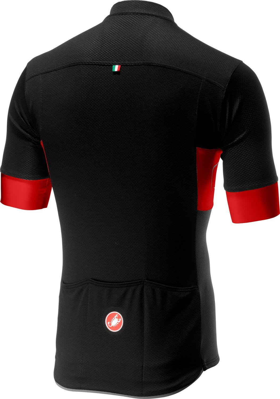 4bfe8f332 Castelli PROLOGO VI short sleeve cycling jersey black red black. Next
