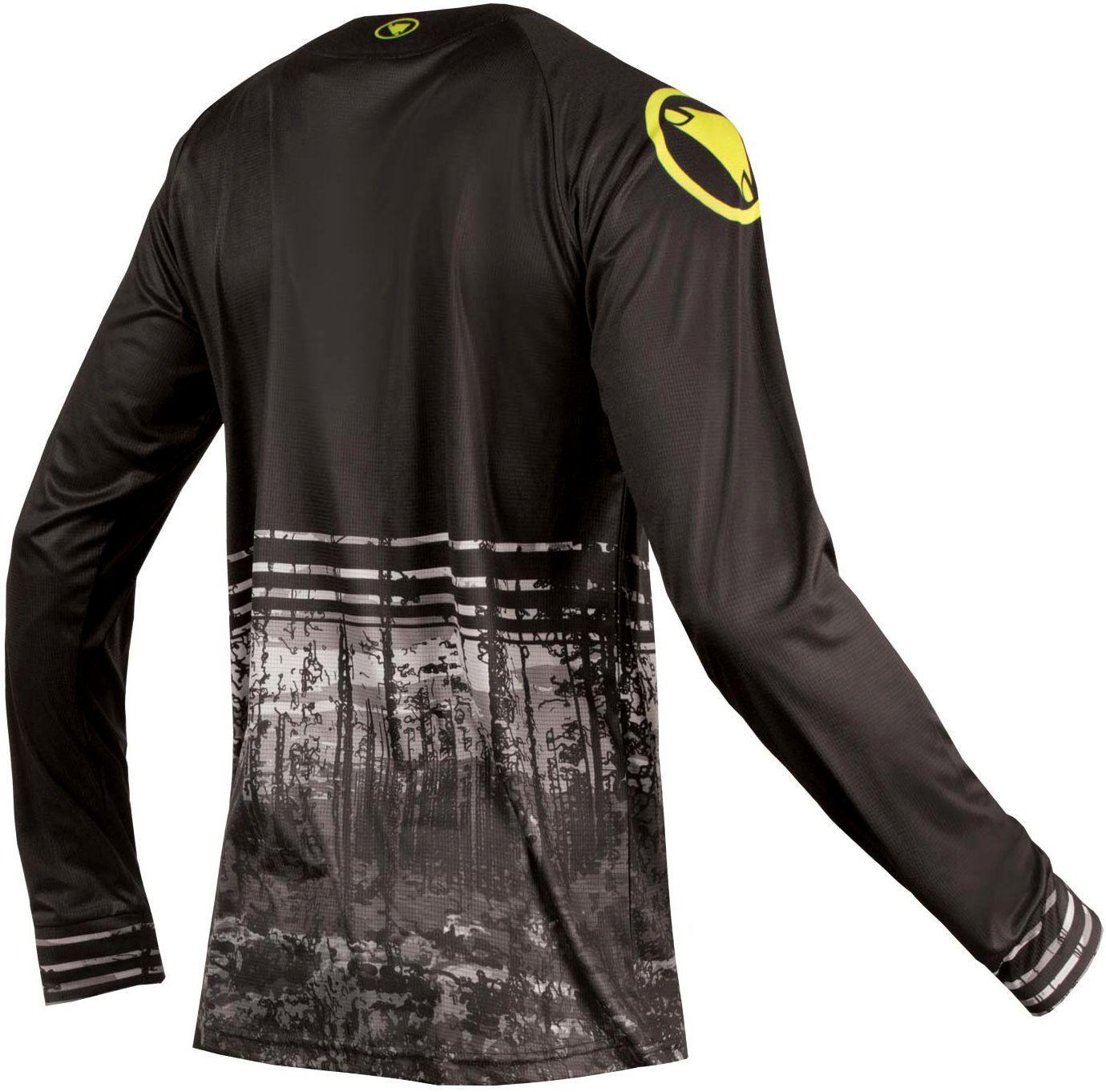 Endura MT500 L S PRINT T II mtb freeride long sleeve cycling jersey black.  Next 9c37860cb