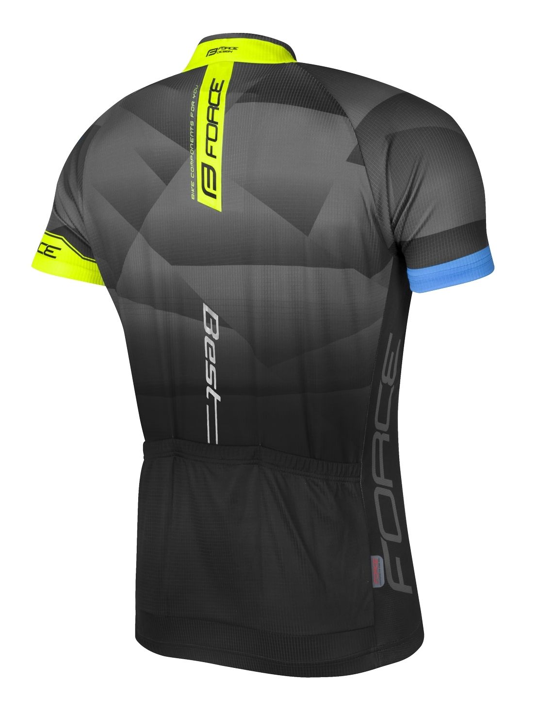 Force BEST short sleeve cycling jersey black fluo yellow (900128). Previous 82f60483e