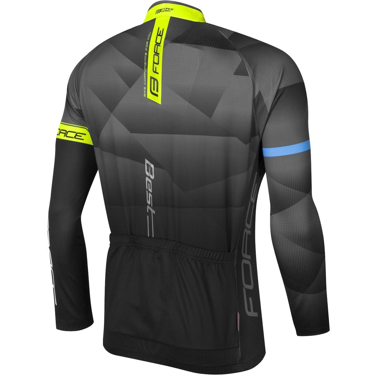 Force BEST long sleeve cycling jersey black fluo yellow (900138). Previous 81de1eaa3
