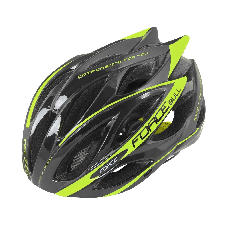 FORCE BULL cycling helmet black fluo yellow (902925-26) 2e0e8fc6f