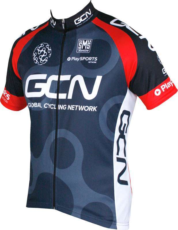 GLOBAL CYCLING NETWORK 2016 set (jersey + strap trousers) - Santini cycling-team.  Previous 4fc722b32