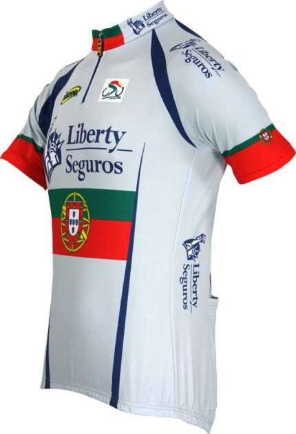 Liberty Seguros Portuguese Champion Inverse professional cycling team -  cycling jersey with short zip. Next 8daa5be15