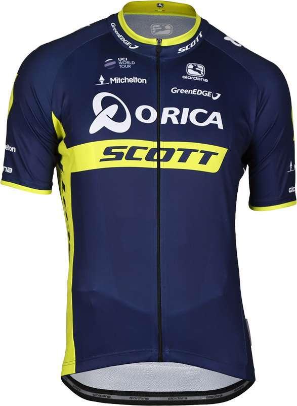 ORICA - SCOTT 2017 set - (jersey long zip + strap trousers) - Giordana.  Previous 3603727ab