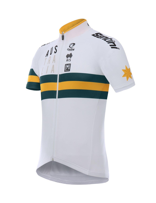 SANTINI AUSTRALIA 2019 short sleeve jersey (long zip) - national cycling  team 70ac2078f