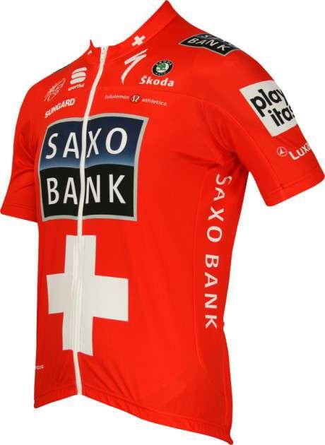 fbc1967dd Saxo Bank 2010 - Swiss Champion Sportful professional cycling team - tricot  (jersey short sleeve. Previous