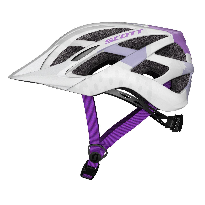 trikotexpress scott spunto kinder fahrradhelm wei lila. Black Bedroom Furniture Sets. Home Design Ideas