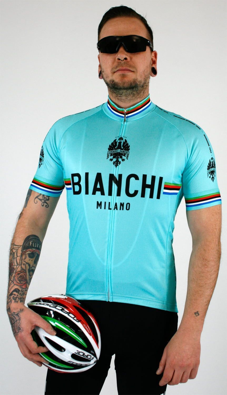 New Men Cycling Jerseys XL Size Replica Bianchi Bike Clothing MTB Road Bicycle