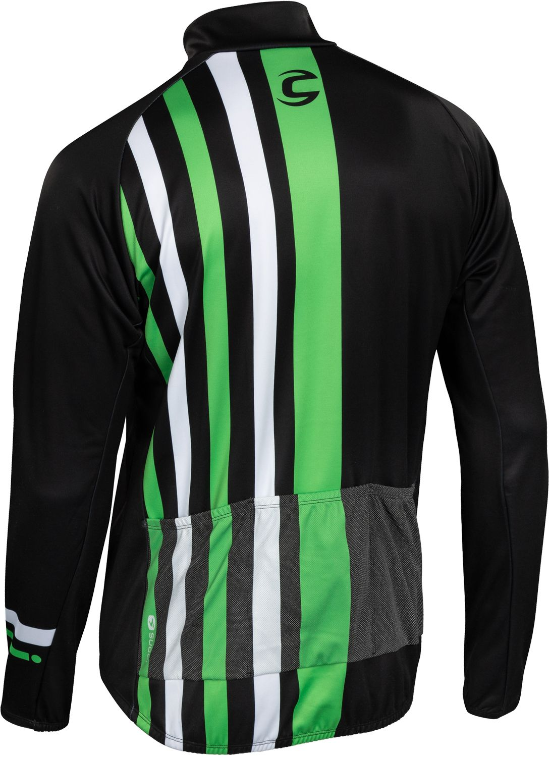 7c457e214 Cannondale EVOLUTION ZAP long sleeve cycling jersey black green by Sugoi.  Next