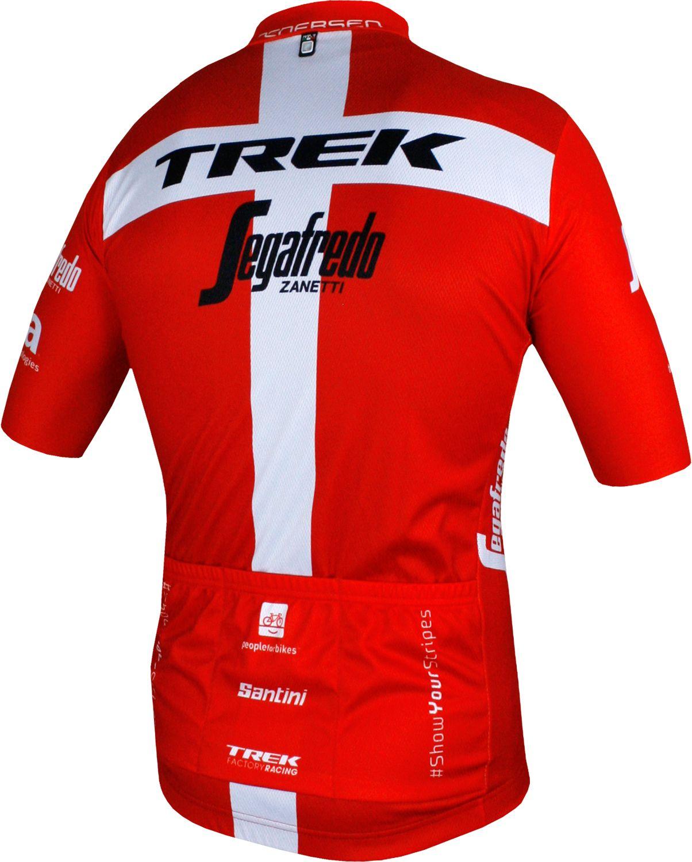852fa0cfd TREK - SEGAFREDO danish champion 2018 short sleeve cycling jersey (long zip)  - Santini. Next