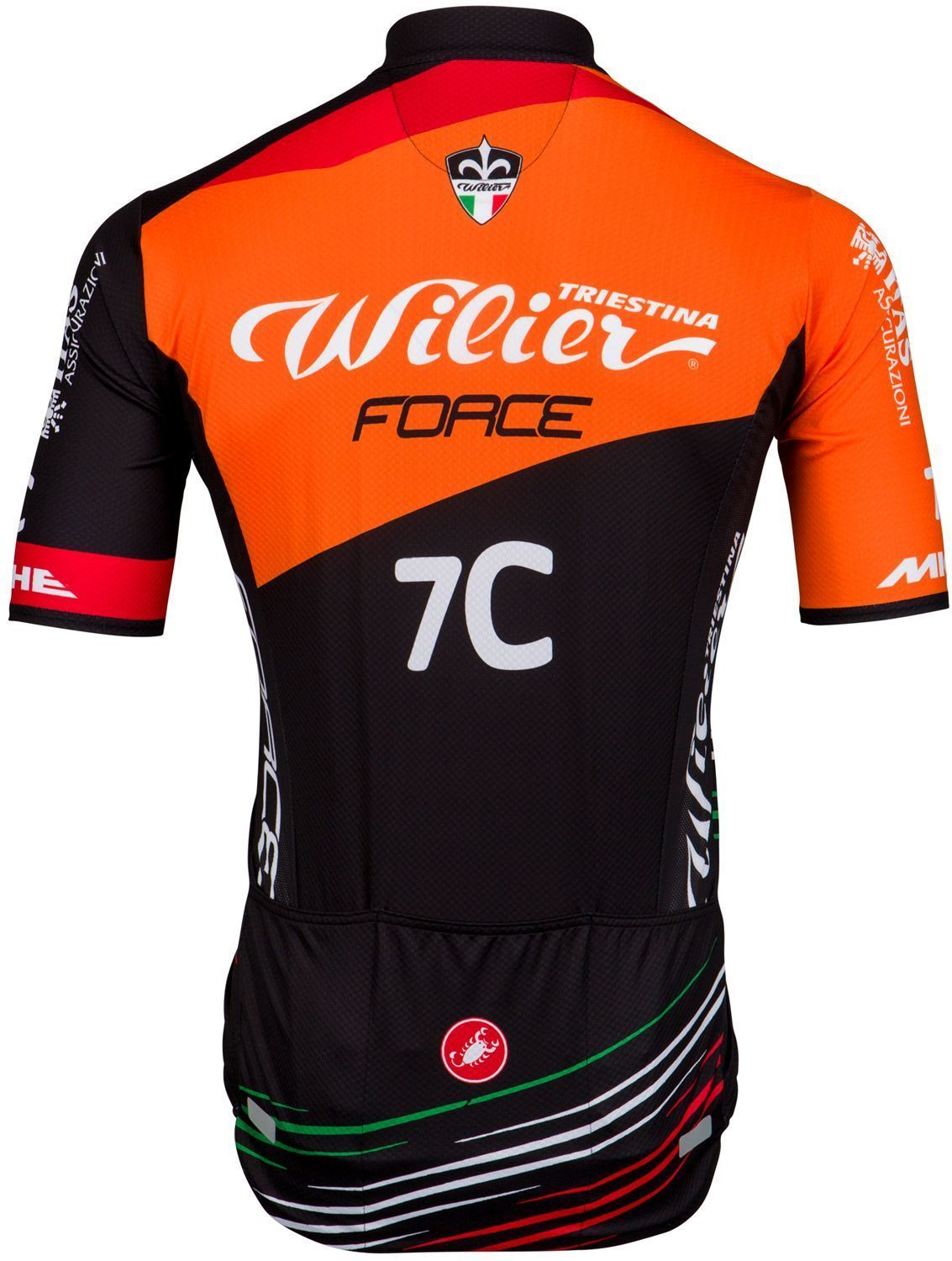 08dfd66cf Wilier Force Squadra Corse 2018 short sleeve cycling jersey (long zip) -  Castelli mountain. Next