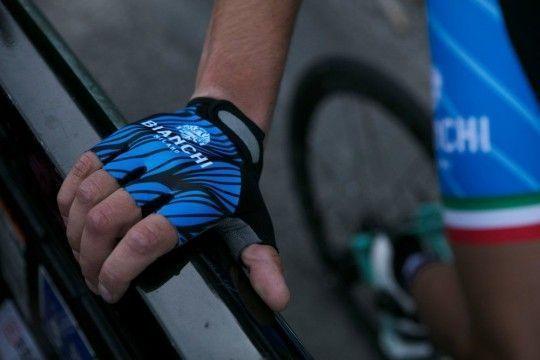 Bianchi Milano ALVIA Fahrradhandschuhe kurzfinger blau (E18-4200)
