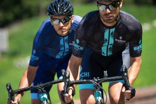 Maillot ciclista manga corta RONCACCIO (azul,E20-4200) - Bianchi Milano