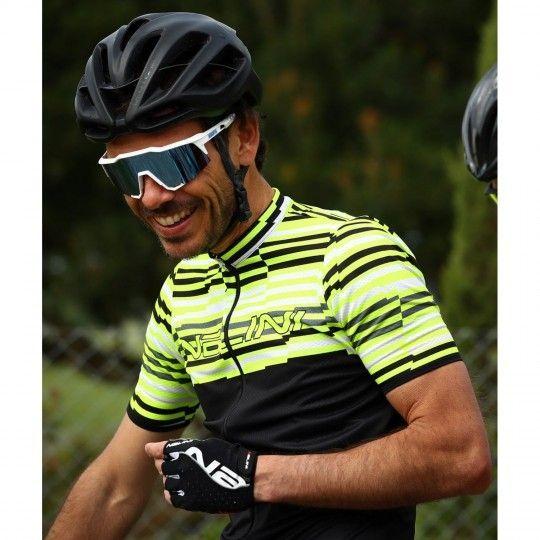 Actionbild Nalini Chamonix Radtrikot kurzarm gelb 4050