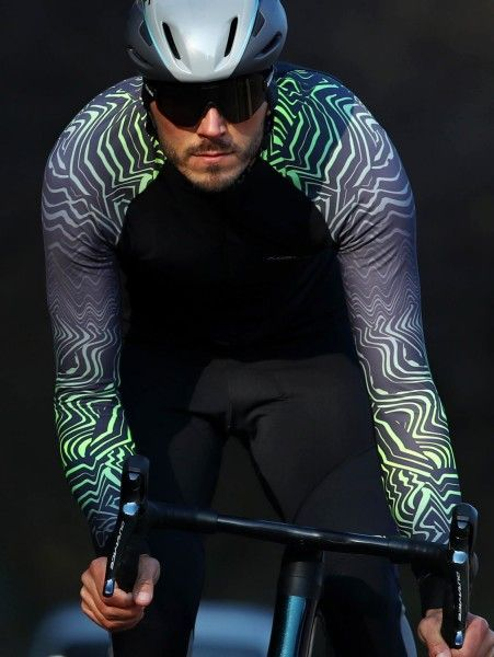 Actionbild Nalini Pro Gara Jersey Fahrrad Langarmtrikot schwarz