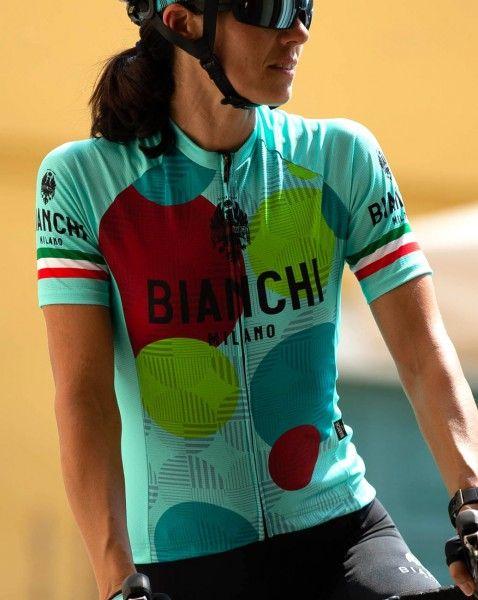 Actionbild1 ANCIPA Fahrrad Kurzarmtrikot Damen celeste