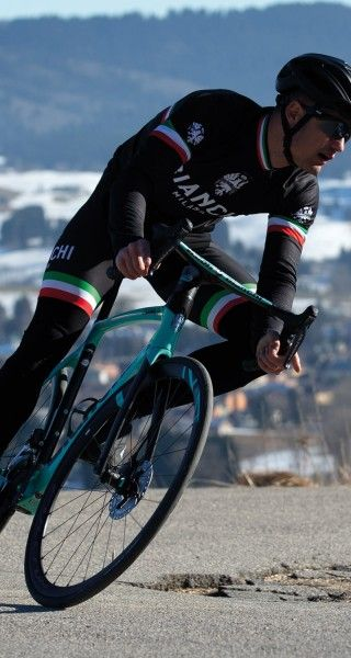 Actionbild1 Bianchi Milano TERMINO Fahrrad Winterhose schwarz