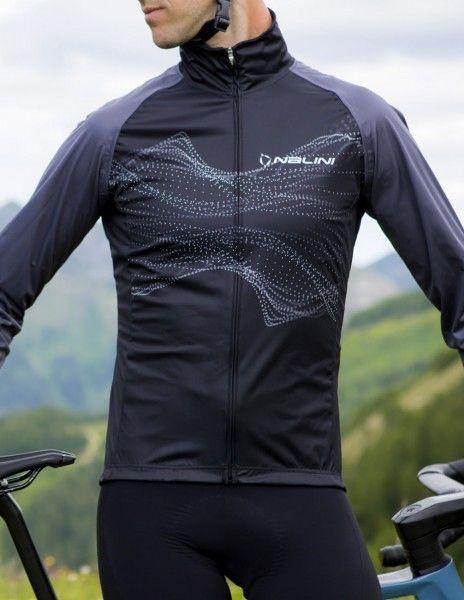 Actionbild1 Nalini Eco Wind Jacket Fahrrad Windjacke schwarz