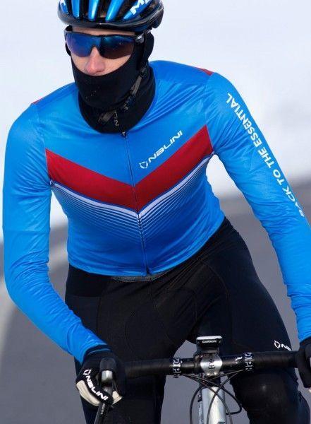Actionbild1 Nalini LS Fit Jersey Fahrrad Langarmtrikot blau