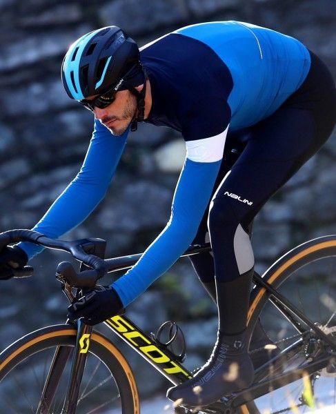 Actionbild1 Nalini Pro Corsa Jersey Fahrrad Langarmtrikot blau