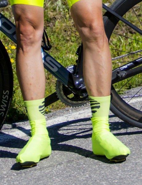 Actionbild1 Nalini TOPEKA Fahrradsocken gelbgrün