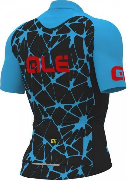 ALE CRACLE short sleeve cycling jersey blue/black