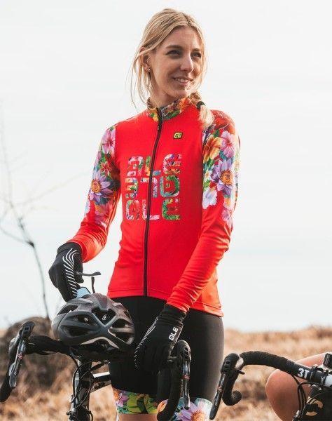Alé FLOWERS LAB Lady - Damen Radtrikot langarm pink 3
