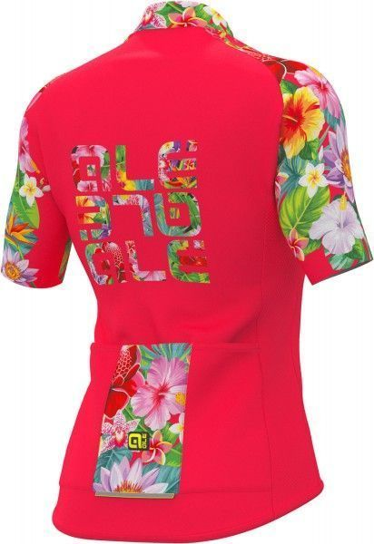 ALE FLOWERS LAB Radtrikot Damen kurzarm pink Größe L (4)