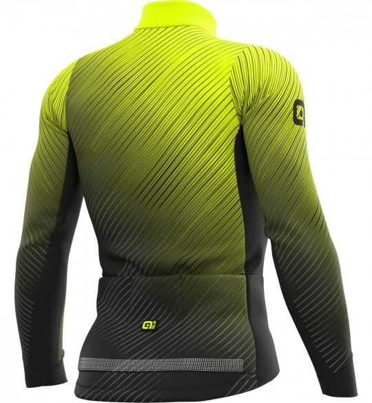 ALE STORM long sleeve cycling jersey black/fluo yellow