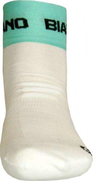 Bianchi Milano Socke ASFALTO weiß celeste 2