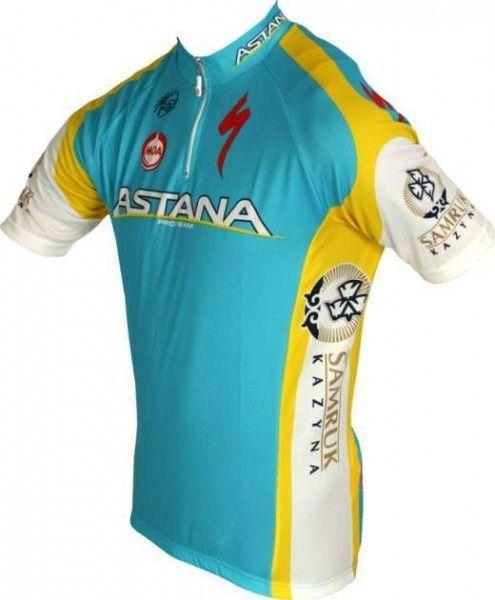 ASTANA 2012 MOA Radsport-Profi-Team - Kurzarmtrikot mit kurzem Reißverschluss