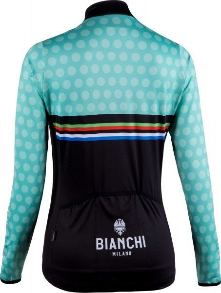 Bianchi Milano TERMENO Damen Langarmtrikot schwarz/celeste 2