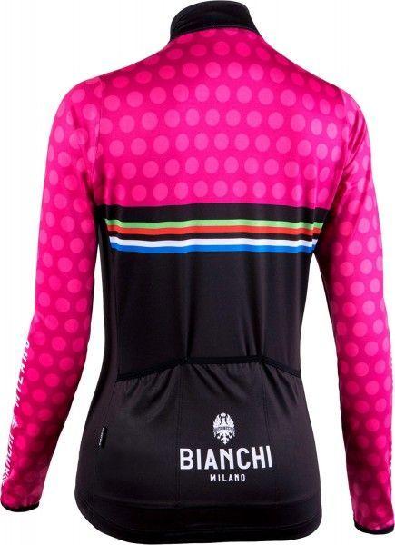 Bianchi Milano TERMENO Damen Langarmtrikot schwarz/pink 2