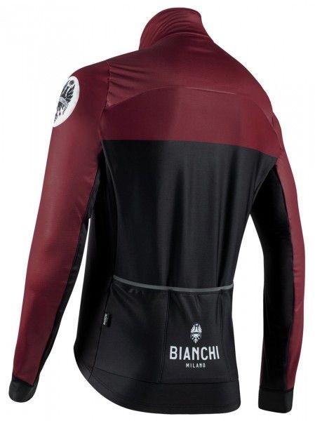 Bianchi Milano Delebio Fahrrad Winterjacke schwarz/weinrot 2