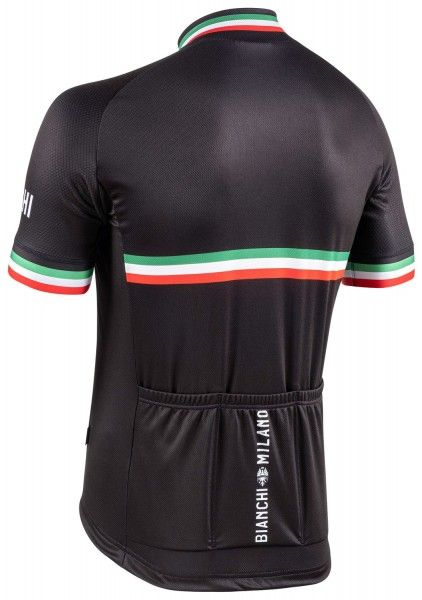 Maillot ciclista manga corta ISALLE (negro,E20-4000) - Bianchi Milano